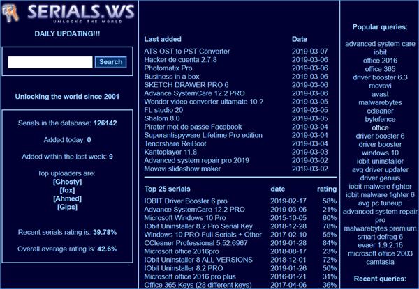 serials ws free keys 1 1